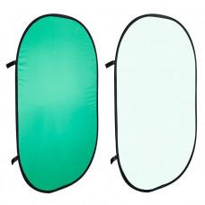 Фон в пружинной рамке Visico BP-028 2в1 Chroma Key (зелёный/белый) 150x200см